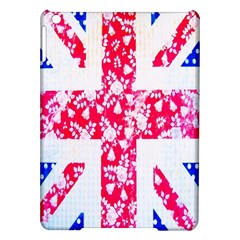 British Flag Abstract British Union Jack Flag In Abstract Design With Flowers iPad Air Hardshell Cases