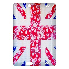 British Flag Abstract British Union Jack Flag In Abstract Design With Flowers Amazon Kindle Fire Hd (2013) Hardshell Case