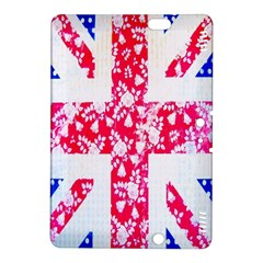 British Flag Abstract British Union Jack Flag In Abstract Design With Flowers Kindle Fire HDX 8.9  Hardshell Case