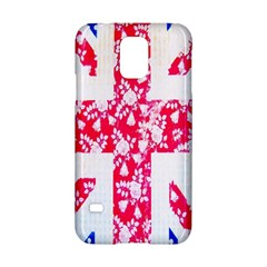 British Flag Abstract British Union Jack Flag In Abstract Design With Flowers Samsung Galaxy S5 Hardshell Case