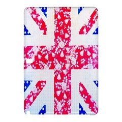 British Flag Abstract British Union Jack Flag In Abstract Design With Flowers Samsung Galaxy Tab Pro 10 1 Hardshell Case