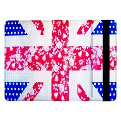 British Flag Abstract British Union Jack Flag In Abstract Design With Flowers Samsung Galaxy Tab Pro 12.2  Flip Case