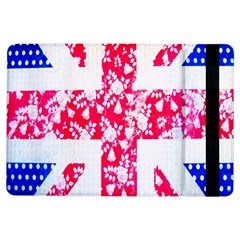 British Flag Abstract British Union Jack Flag In Abstract Design With Flowers iPad Air Flip