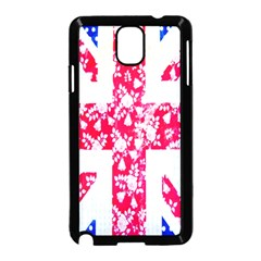 British Flag Abstract British Union Jack Flag In Abstract Design With Flowers Samsung Galaxy Note 3 Neo Hardshell Case (black)