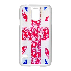 British Flag Abstract British Union Jack Flag In Abstract Design With Flowers Samsung Galaxy S5 Case (white)
