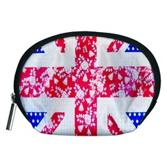 British Flag Abstract British Union Jack Flag In Abstract Design With Flowers Accessory Pouches (medium)