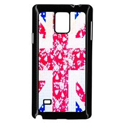 British Flag Abstract British Union Jack Flag In Abstract Design With Flowers Samsung Galaxy Note 4 Case (black)