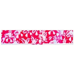 British Flag Abstract British Union Jack Flag In Abstract Design With Flowers Flano Scarf (small)