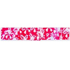 British Flag Abstract British Union Jack Flag In Abstract Design With Flowers Flano Scarf (large)