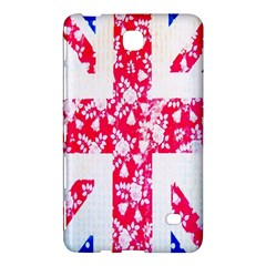 British Flag Abstract British Union Jack Flag In Abstract Design With Flowers Samsung Galaxy Tab 4 (7 ) Hardshell Case