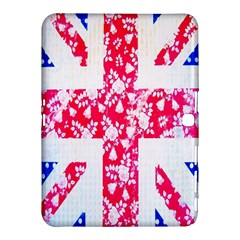 British Flag Abstract British Union Jack Flag In Abstract Design With Flowers Samsung Galaxy Tab 4 (10 1 ) Hardshell Case