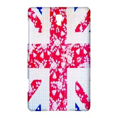British Flag Abstract British Union Jack Flag In Abstract Design With Flowers Samsung Galaxy Tab S (8 4 ) Hardshell Case