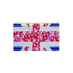 British Flag Abstract British Union Jack Flag In Abstract Design With Flowers Cosmetic Bag (XS)
