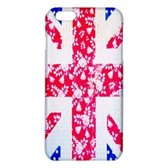 British Flag Abstract British Union Jack Flag In Abstract Design With Flowers Iphone 6 Plus/6s Plus Tpu Case