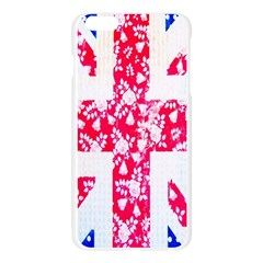 British Flag Abstract British Union Jack Flag In Abstract Design With Flowers Apple Seamless iPhone 6 Plus/6S Plus Case (Transparent)