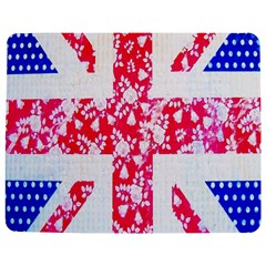 British Flag Abstract British Union Jack Flag In Abstract Design With Flowers Jigsaw Puzzle Photo Stand (Rectangular)