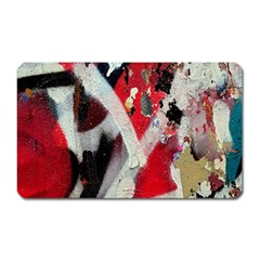 Abstract Graffiti Background Wallpaper Of Close Up Of Peeling Magnet (rectangular)