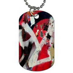 Abstract Graffiti Background Wallpaper Of Close Up Of Peeling Dog Tag (Two Sides)