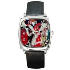 Abstract Graffiti Background Wallpaper Of Close Up Of Peeling Square Metal Watch