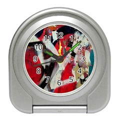 Abstract Graffiti Background Wallpaper Of Close Up Of Peeling Travel Alarm Clocks