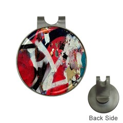 Abstract Graffiti Background Wallpaper Of Close Up Of Peeling Hat Clips with Golf Markers