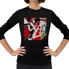 Abstract Graffiti Background Wallpaper Of Close Up Of Peeling Women s Long Sleeve Dark T-Shirts