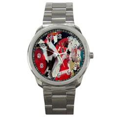 Abstract Graffiti Background Wallpaper Of Close Up Of Peeling Sport Metal Watch