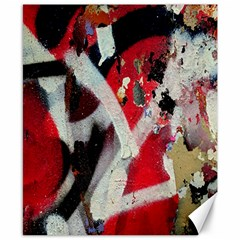 Abstract Graffiti Background Wallpaper Of Close Up Of Peeling Canvas 8  X 10