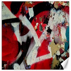 Abstract Graffiti Background Wallpaper Of Close Up Of Peeling Canvas 16  x 16