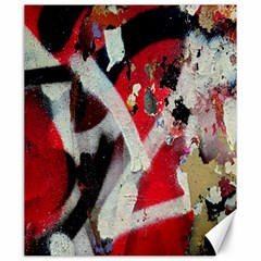 Abstract Graffiti Background Wallpaper Of Close Up Of Peeling Canvas 20  x 24