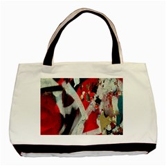 Abstract Graffiti Background Wallpaper Of Close Up Of Peeling Basic Tote Bag (two Sides)