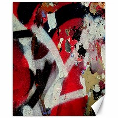 Abstract Graffiti Background Wallpaper Of Close Up Of Peeling Canvas 11  x 14