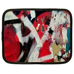 Abstract Graffiti Background Wallpaper Of Close Up Of Peeling Netbook Case (large)