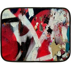 Abstract Graffiti Background Wallpaper Of Close Up Of Peeling Double Sided Fleece Blanket (Mini)