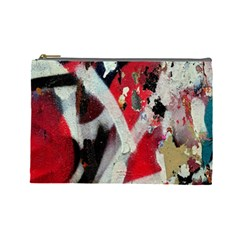 Abstract Graffiti Background Wallpaper Of Close Up Of Peeling Cosmetic Bag (Large)