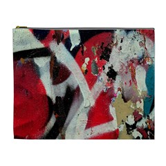 Abstract Graffiti Background Wallpaper Of Close Up Of Peeling Cosmetic Bag (XL)
