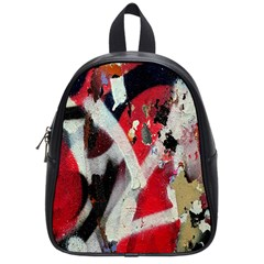Abstract Graffiti Background Wallpaper Of Close Up Of Peeling School Bags (Small)