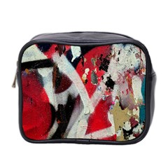 Abstract Graffiti Background Wallpaper Of Close Up Of Peeling Mini Toiletries Bag 2 Side
