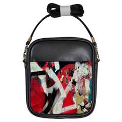 Abstract Graffiti Background Wallpaper Of Close Up Of Peeling Girls Sling Bags
