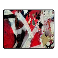 Abstract Graffiti Background Wallpaper Of Close Up Of Peeling Fleece Blanket (Small)