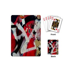 Abstract Graffiti Background Wallpaper Of Close Up Of Peeling Playing Cards (mini)