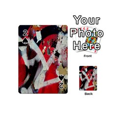 Abstract Graffiti Background Wallpaper Of Close Up Of Peeling Playing Cards 54 (mini)