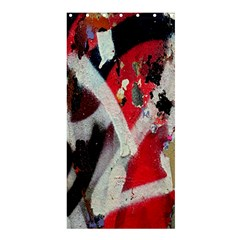 Abstract Graffiti Background Wallpaper Of Close Up Of Peeling Shower Curtain 36  x 72  (Stall)