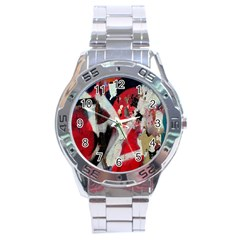 Abstract Graffiti Background Wallpaper Of Close Up Of Peeling Stainless Steel Analogue Watch