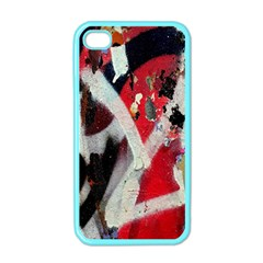 Abstract Graffiti Background Wallpaper Of Close Up Of Peeling Apple Iphone 4 Case (color)