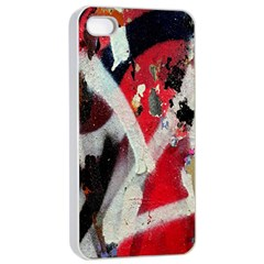 Abstract Graffiti Background Wallpaper Of Close Up Of Peeling Apple iPhone 4/4s Seamless Case (White)