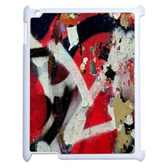 Abstract Graffiti Background Wallpaper Of Close Up Of Peeling Apple iPad 2 Case (White)