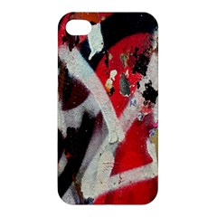 Abstract Graffiti Background Wallpaper Of Close Up Of Peeling Apple Iphone 4/4s Hardshell Case