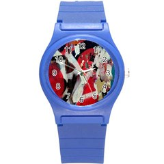 Abstract Graffiti Background Wallpaper Of Close Up Of Peeling Round Plastic Sport Watch (s)