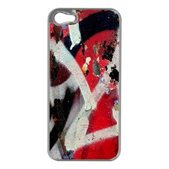 Abstract Graffiti Background Wallpaper Of Close Up Of Peeling Apple iPhone 5 Case (Silver)